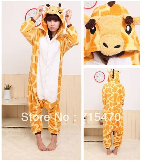 Piyama Sleepy Giraffe unisex animal lovely giraffe pajamas onesie