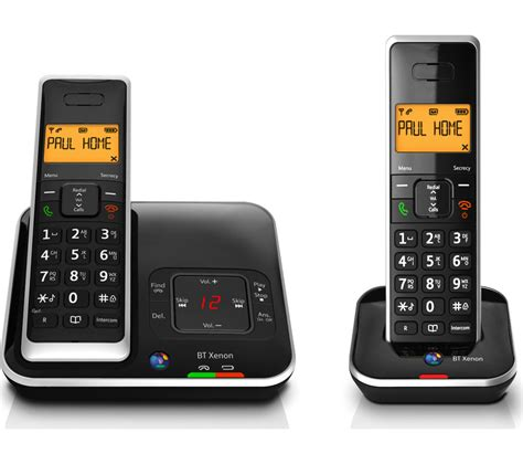 currys mobile phones buy bt xenon 1500 cordless phone with answering machine