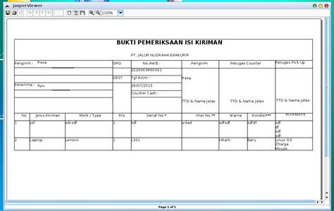 Mohon Klik Penerimaan Barang learn and java swing aplikasi pengiriman barang