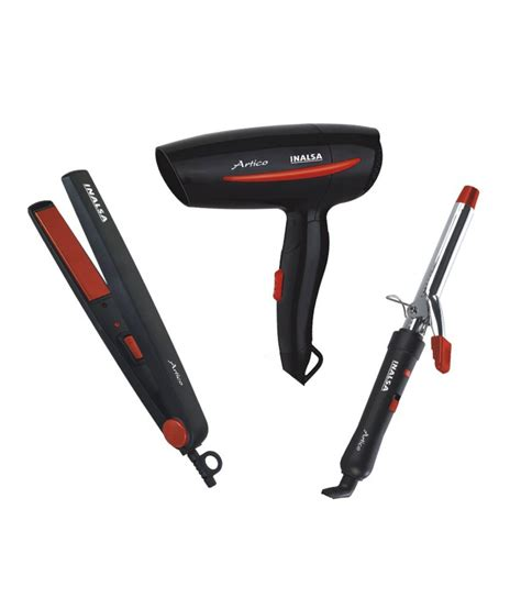 Hair Dryer And Straightener Combo Price inalsa artico set artico dryer curler styler hair