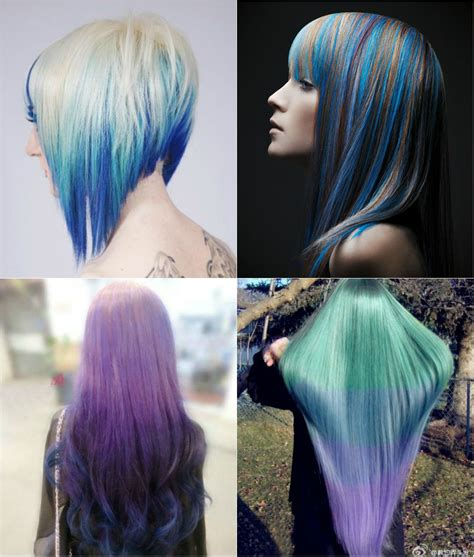 embry hair dying style blue and violet ombre hair color you can try out in 2013