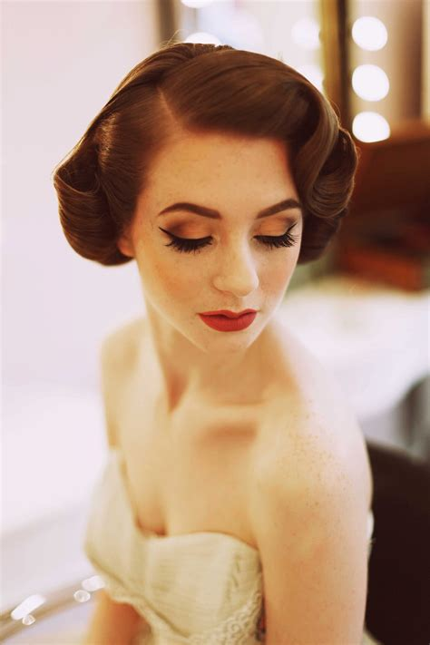 Vintage Wedding Hair And Makeup by 1950 S Fashion For The Modern My
