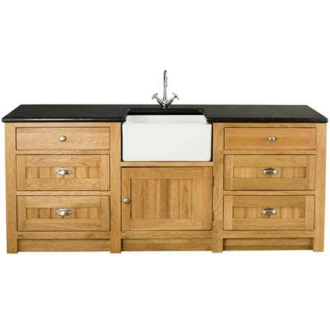 kitchen sink and cabinet orchard oak 1 door 6 drawer sink cabinet 2130x665x900mm