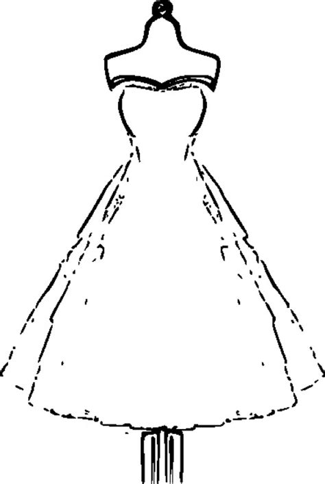 coloring pages of fashion dresses printable wedding dress free coloring pages on art