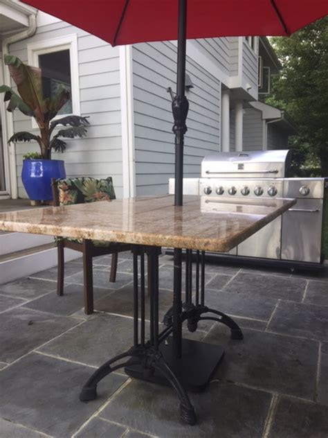 Granite Patio Table Granite Patio Table Granite Patio Table Other Metro By Marble Doctors Llc Granite Patio Table