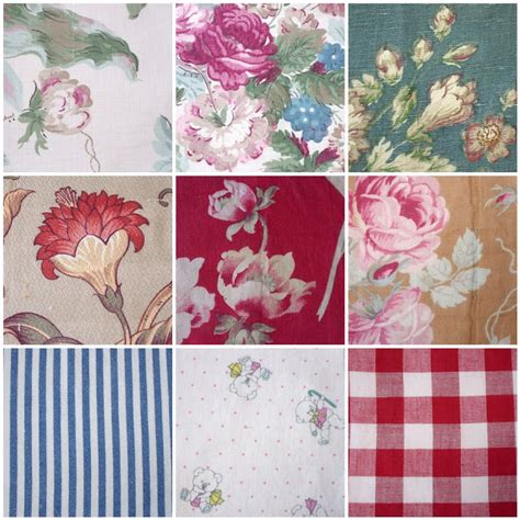 Patchwork Sewing Projects - rag rescue more pretty vintage fabric squares for