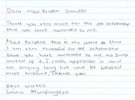 scholarship thank you letter sle thank you letter for award money 28 images thank you