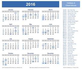 2015 2016 holiday calendar