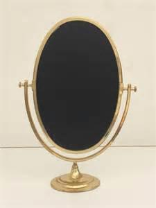 oval brass vanity mirror at 1stdibs