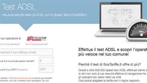 test velocitã adsl test adsl servizi free
