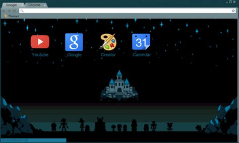 themes beta chrome castle view undertale chrome theme themebeta