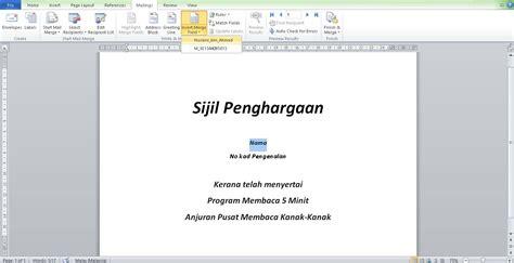 format untuk print lop teknik mudah cetak sijil sijil program