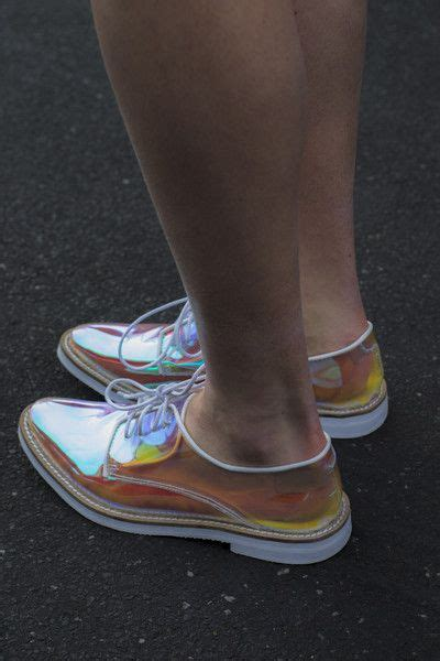 holographic flat shoes transparent holographic oxford flat shoes shoes