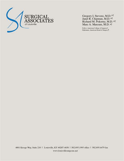best business letterhead http www inkmagazines uploads surgical associates