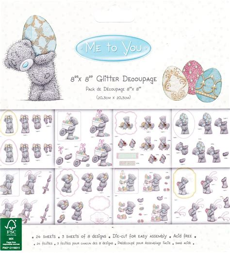 Me To You Decoupage - dovecraft me to you tatty teddy easter 8x8 decoupage pad