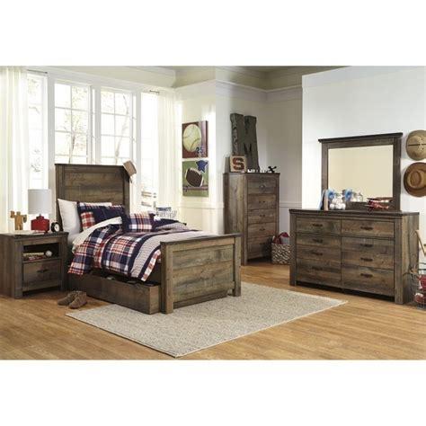 Panel Wood Rushteriosnew Set trinell 7 wood panel bedroom set in brown b446 21 26 46 52 53 60 83 pkg