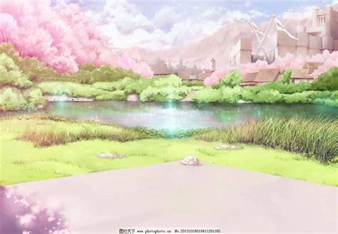 动漫唯美樱花风景