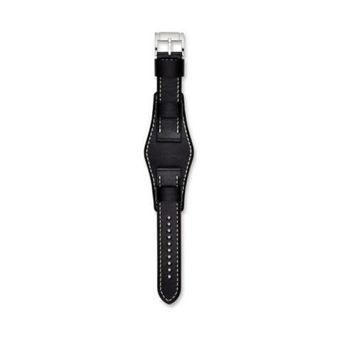 Fossil S221143 Black Drakbrown Leather 22 mm leather fossil