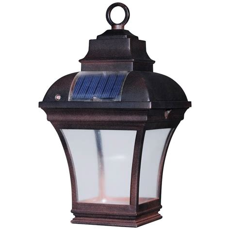 hanging solar lights home depot newport coastal altina outdoor solar led hanging lantern