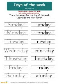 days of the week english worksheets for kids mocomi com