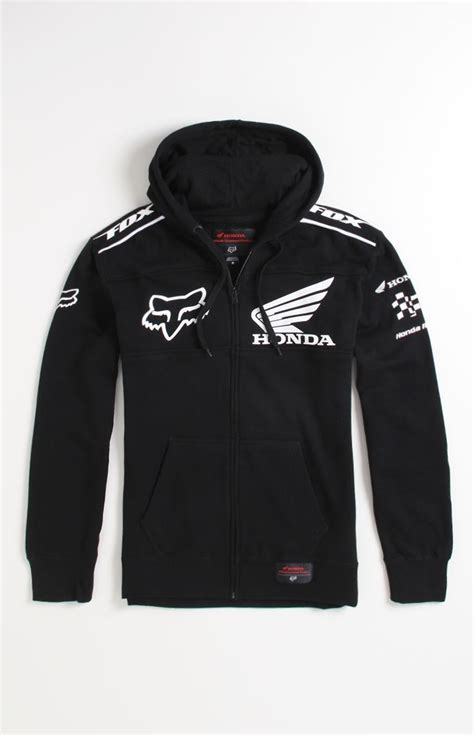 Jaket Hoodie Kawasaki Zipper mens fox hoodie fox honda zip fleece tekshare ea and honda