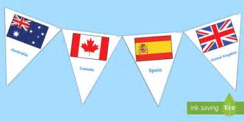 flags of the world twinkl flags of the world bunting flags of the world flags world