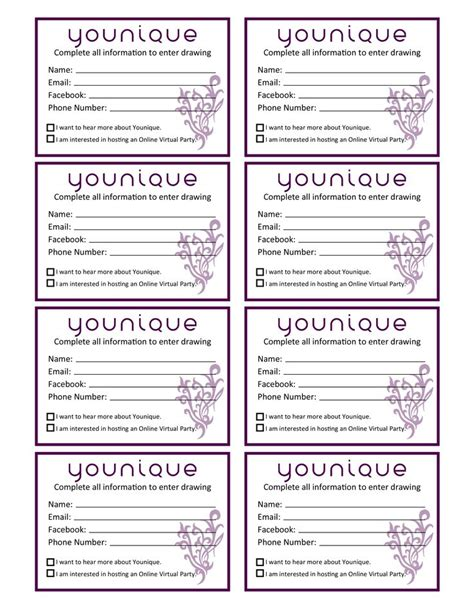 prize cards template door prize drawing template at getdrawings free for