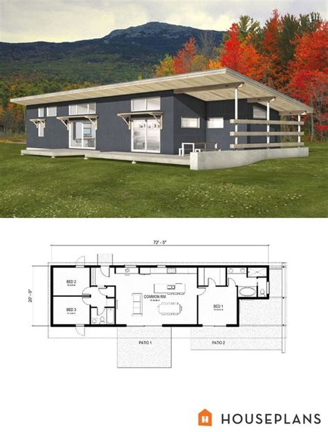 modern bed plans modern style house plans 3 beds 2 baths 1356 sq ft plan
