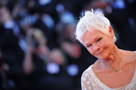 what products to use to get judi dench hair judi dench s slit dress sparkles in venice photos huffpost