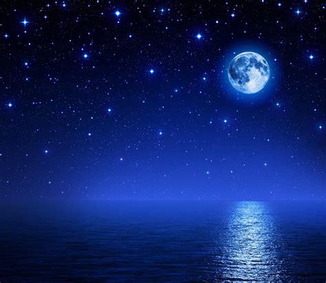 lade a fibra ottica papier peint superbe lune dans le ciel 233 toil 233 sur mer