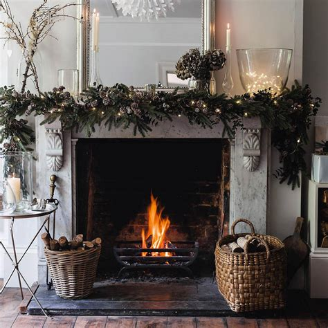 fireplace garland with lights christmas with the white company zita elze flowers