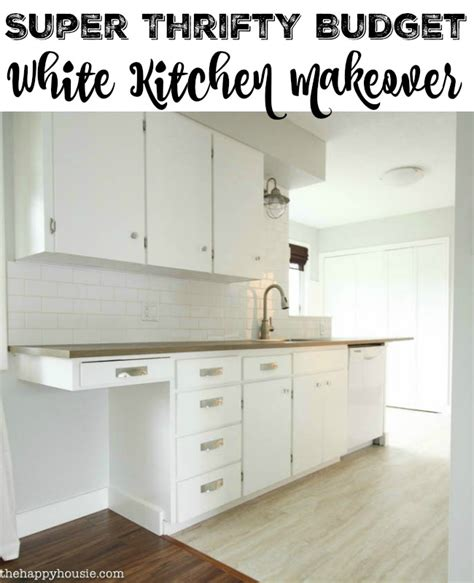 kitchen before after a super budget kitchen makeover super thrifty budget white kitchen makeover reveal the