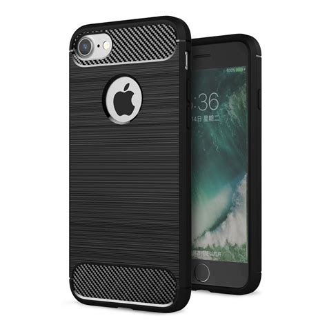 Softcase Carbon Iphone 7 tpu carbon softcase iphone 7 8 zwart iphonehoesjes nl