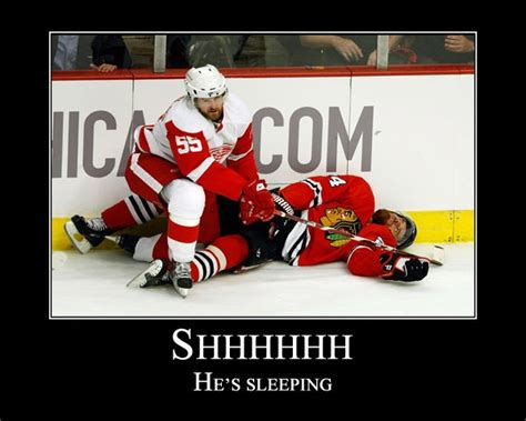 Chicago Blackhawks Memes - shhhh he s sleeping hockey memes red wings versus