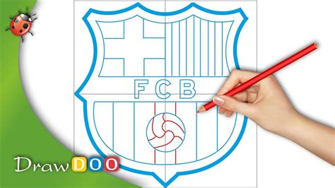 tutorial logo barcelona fc barcelona logo from fifa logos drawing tutorial youtube
