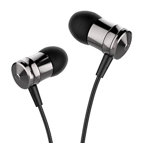 best earphones with microphone for android ailihen m10 metal in ear headphones with microphone