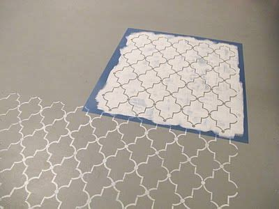 pattern cement sheet stencils painted on the floor quot hobby lobby they sell