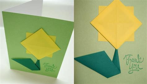 Sunflower Origami - peacefully folding origami sunflower card tutorial