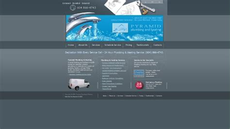 Pyramid Plumbing by Web Development For Small Businesses Marketing Search Engine Optimization