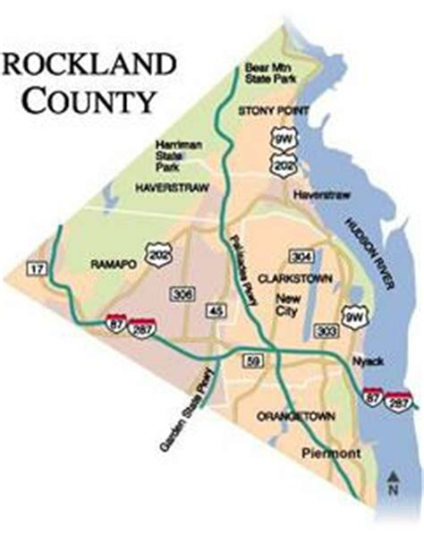 map of rockland county new york rockland county images