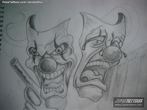 imagenes de aztecas cholos payasos cholos joker tattoo design bild