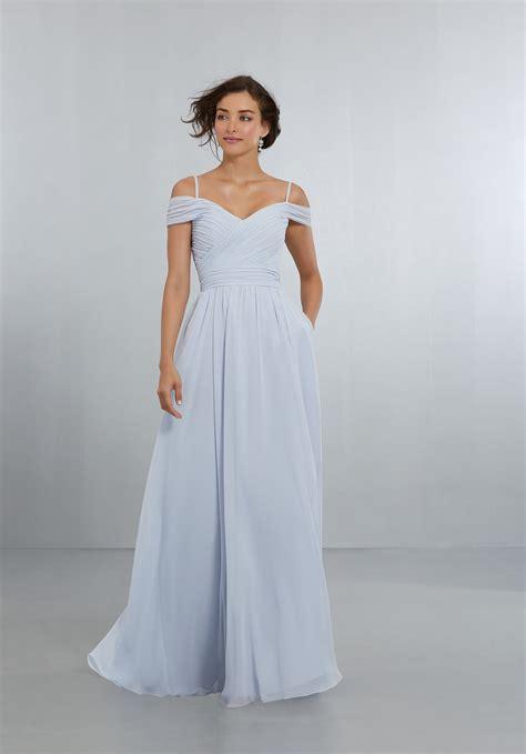Bridesmaid Dresses - chiffon bridesmaids dress with the shoulder draped