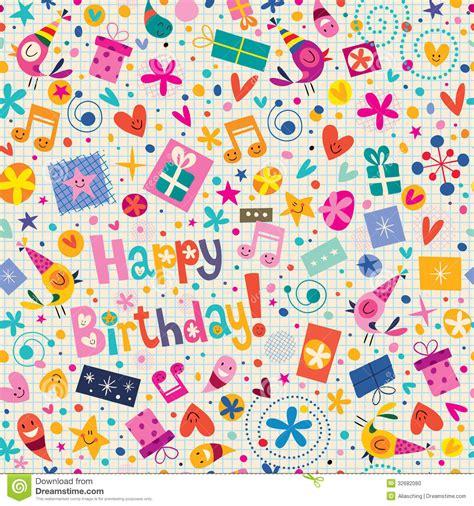 design patterns happy birthday happy birthday pattern stock vector illustration of retro