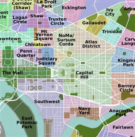 dc neighborhood map dc neighborhood boundaries map pictures to pin on pinsdaddy