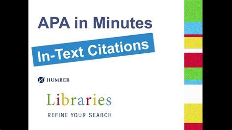 apa format youtube video in text citation apa in minutes in text citations youtube