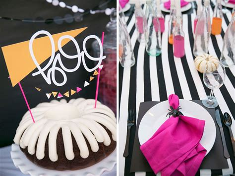 bright  colorful halloween party ideas  love