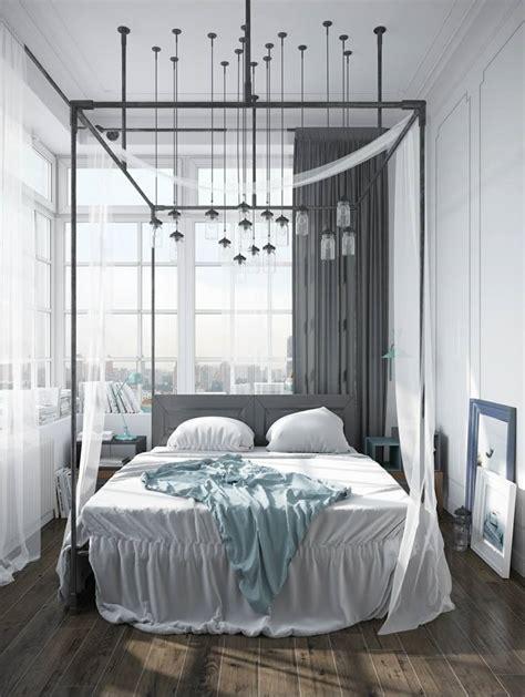 chambre avec lit baldaquin lit baldaquin pour une chambre de d 233 co romantique moderne