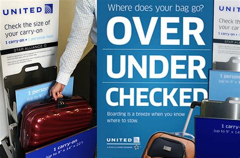 united airlines checked bag united s strict new carry on policy or business as usual