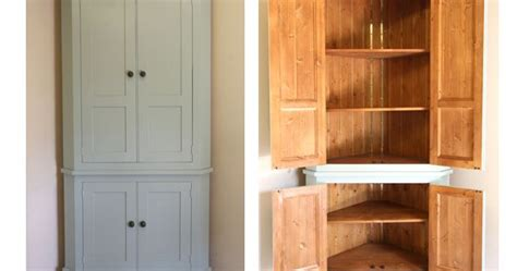 buy country kitchen freestanding pantry cabinet at handmade solid wood larder unit freestanding kitchen