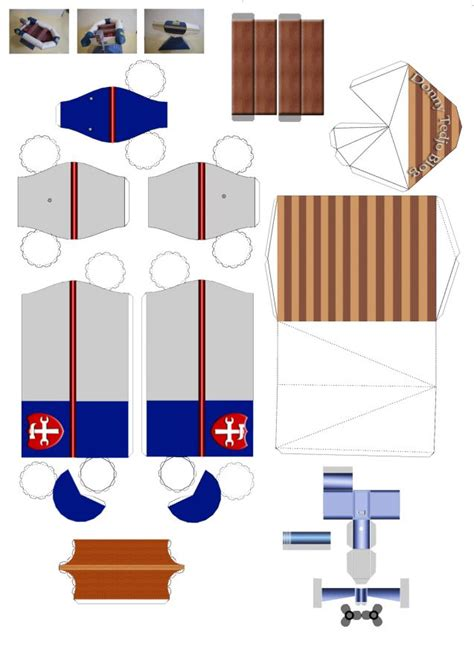 Boat Paper Craft - guide plan